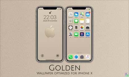 Golden iPhone X by iBidule