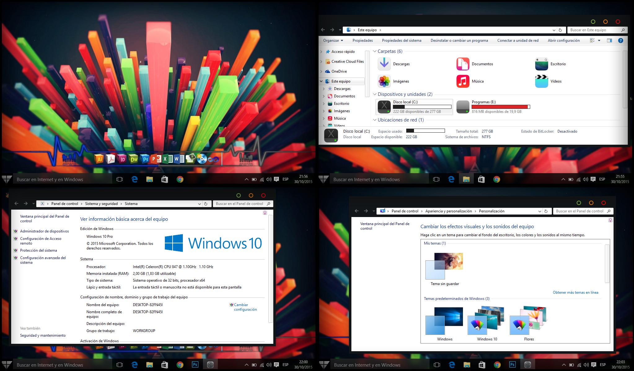 Tema Minimalista Windows 10 by Pcnafer