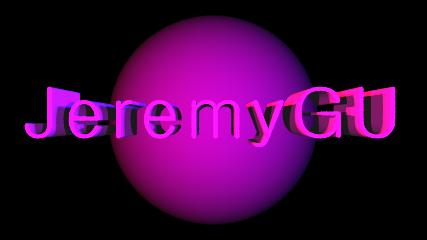 JeremyGU logo POV-Ray by JeremyGU