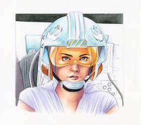 X-Wing Pilot Rey - TimeLapse Progression Video