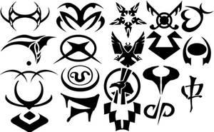 Stargate Jaffa Tattoo Brushes by JanxAngel