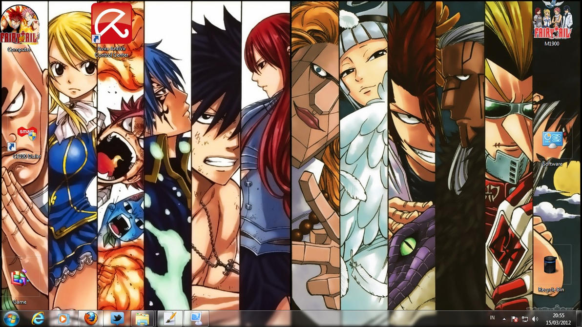 Fairy Tail Skins Windows 8 Fairy Tail Theme Windows 7 by