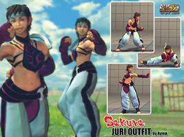 SSFIV AE - SAKURA JURI OUTFIT by Ayiep27