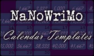 NaNo calendar templates