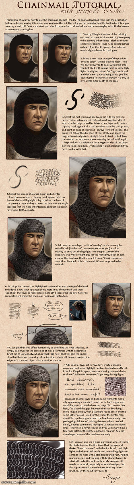 Chainmail brushes and tutorial