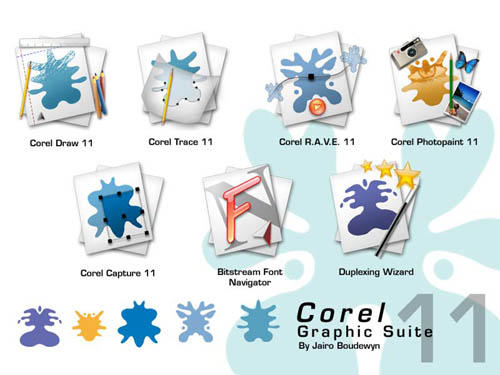 Corel Graphic Suite 11 by weboso