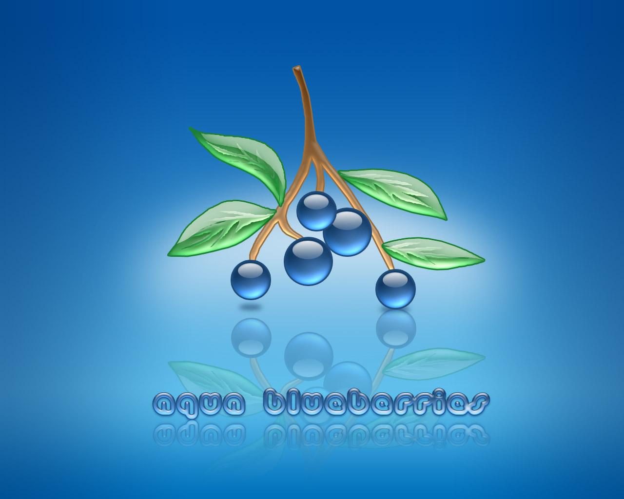Aqua Blueberries by weboso
