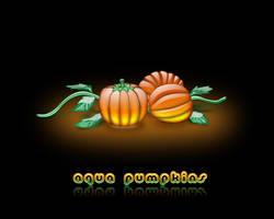 Aqua Pumpkins by weboso