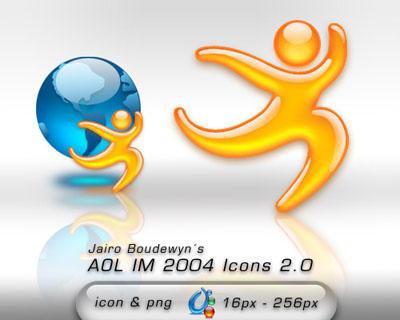 AOL IM 2004 Icons 2.0 by weboso
