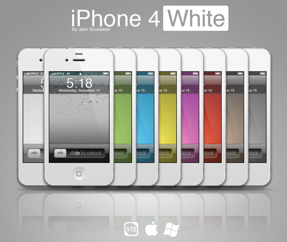 iPhone 4 White by weboso