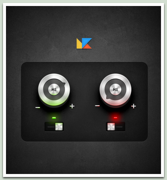 FREEBIE - Round Alu Buttons