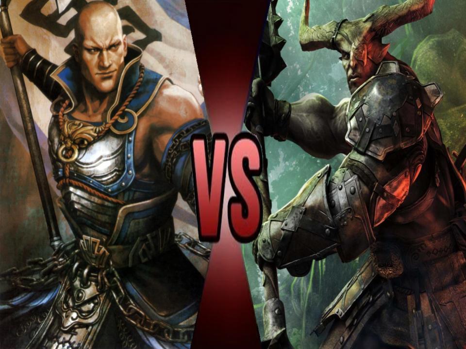DWOAH: Dian Wei vs The Iron Bull by Garchompisbeast on DeviantArt