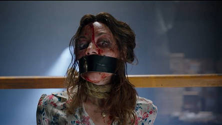 Aubrey Plaza tape gagged in Child's Play (2019) by PotterPoint-Zero