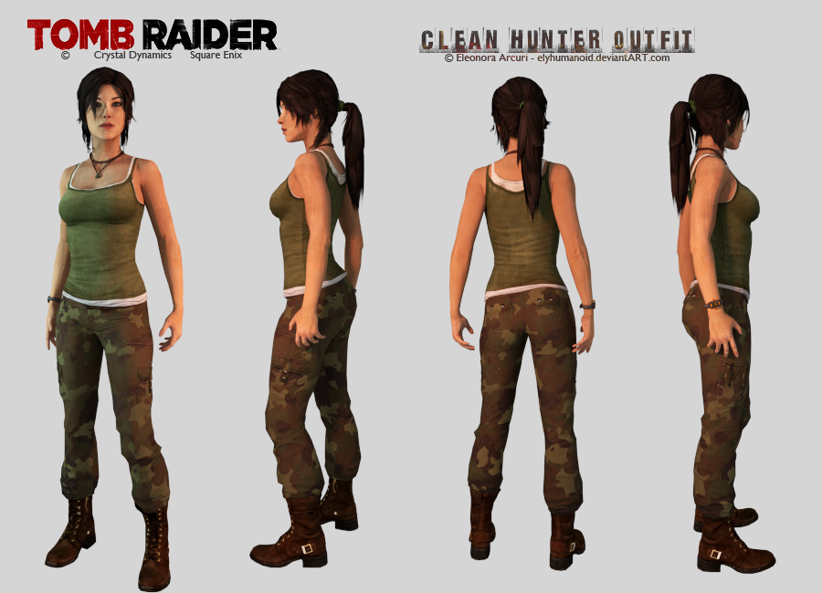 Lara Croft Clean Hunter Outfit Download By Hellenys On Deviantart
