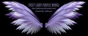 Misty Light Purple Fractal Wings