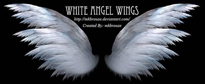 White Angel Wings - Fractal