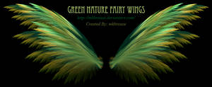Green Nature Fairy Fractal Wings