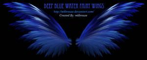 Deep Blue Water Fairy Wings - Fractal