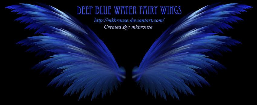 Deep Blue Water Fairy Wings Fractal Mkbrouse DeviantartDark Blue Fairy Wings