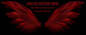 Dark Red Valentine Wings - Fractal