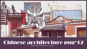 Chinese Architecture png pack #01