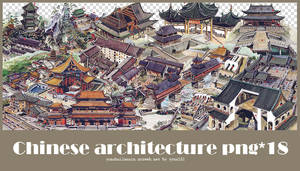 Chinese Architecture png pack #02