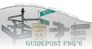 Guidepost png pack #02