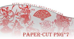 Paper-cut png pack #01