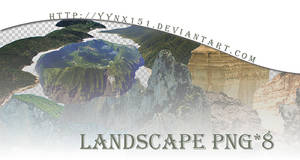 Landscape png pack #02 by yynx151