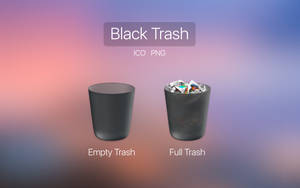 OSX Black Trash by VladPanda