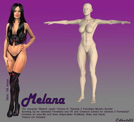 Freebie: Melana (Genesis 2 Female Shape) by Edheldil3D