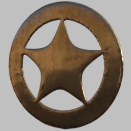 Freebie: ED's Sheriff Star by Edheldil3D