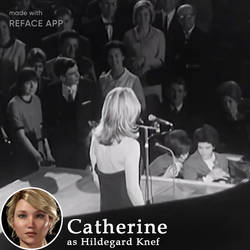 Reface: Catherine as Hildegard Knef