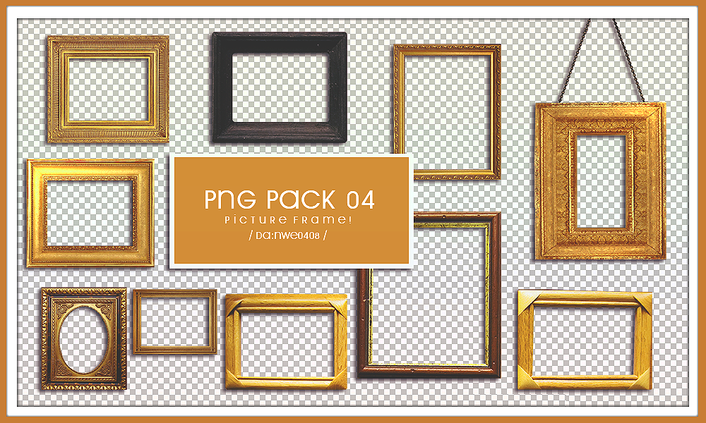 Picture Frame PNG PACK 04 by NWE0408 on DeviantArt