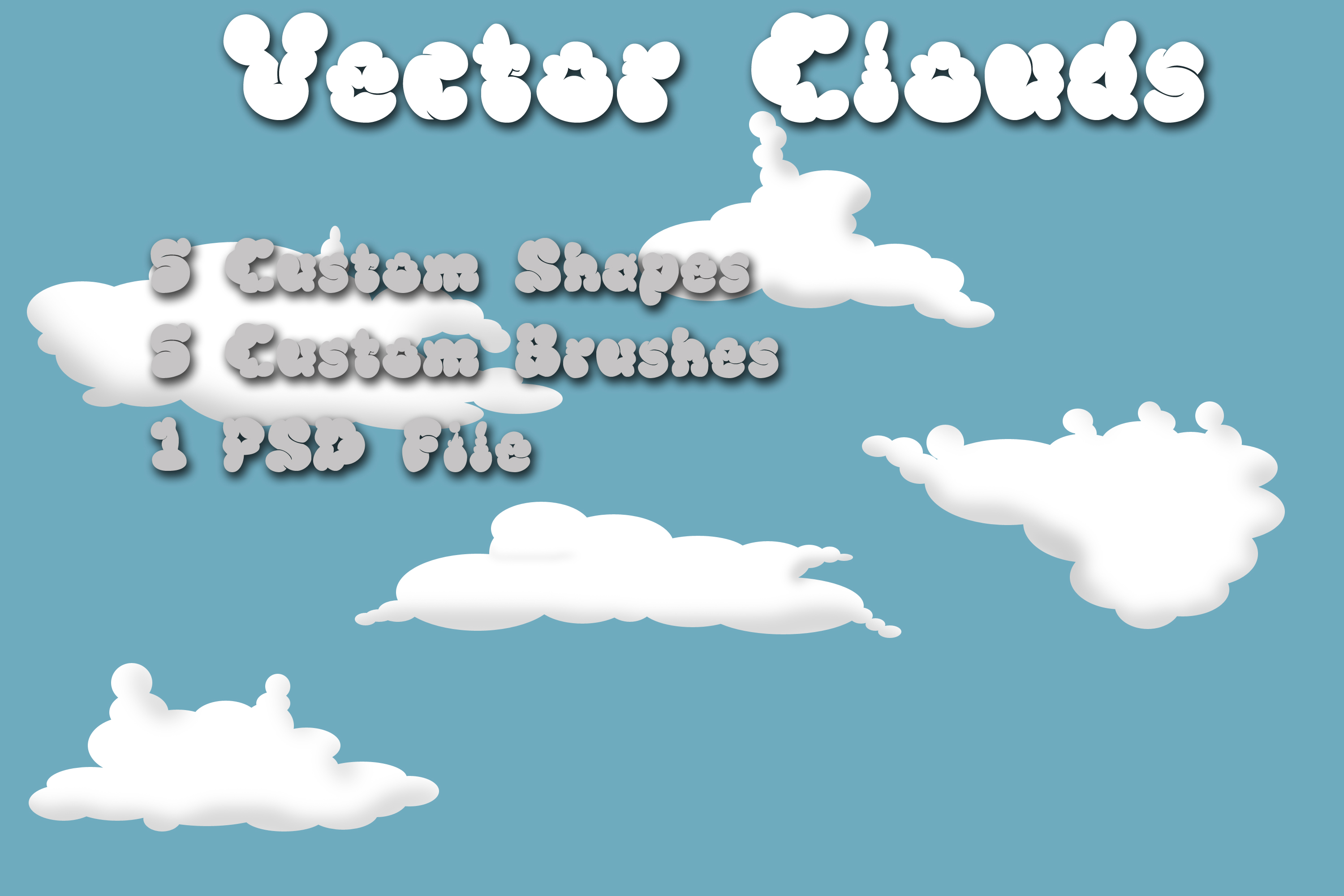 Clouds brushes and shapes