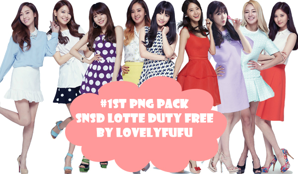 SNSD Lotte Duty Free PNG Pack by lovelyfufu
