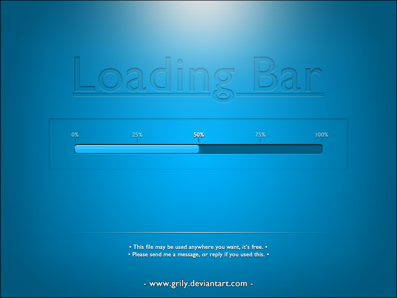Loading Bar - Free Psd by Grily