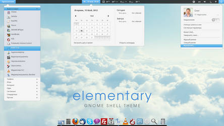 elementary gnome shell theme