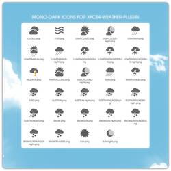 Mono-Dark icons for xfce4-weather-plugin