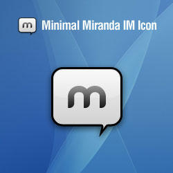 Minimal Miranda IM icon by Rubiroid