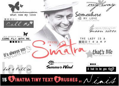 15 tiny sinatra text brushes by Ninis