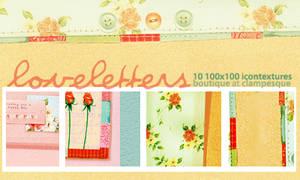 texture set 01:  love letters