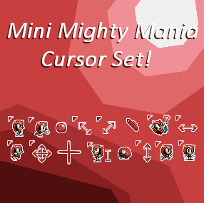 Mini Mighty Mania Animated Cursor Set by KuroNine721 on DeviantArt
