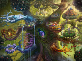 Tree with Civilizations by Azot2019