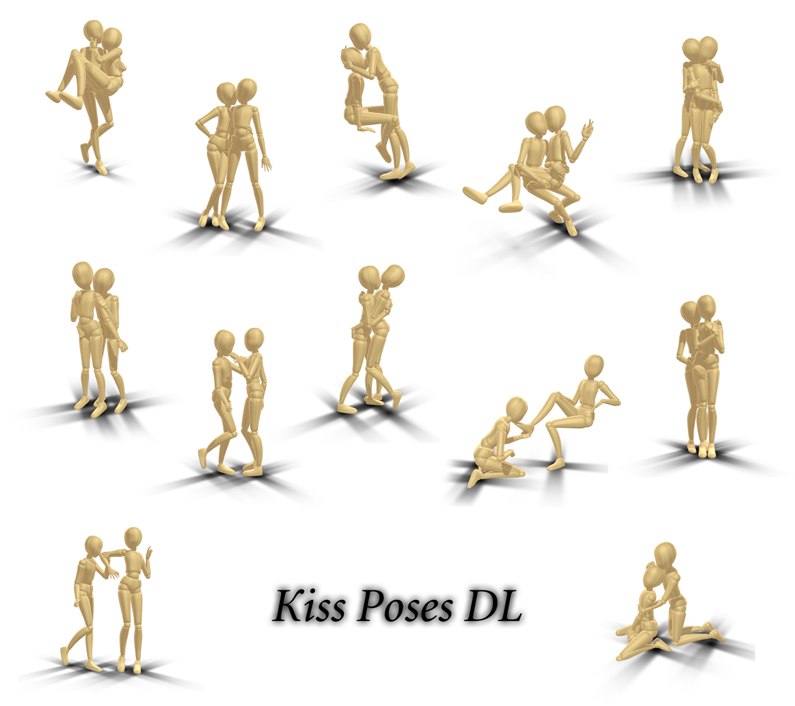 Kiss Poses DL by innaaleksui