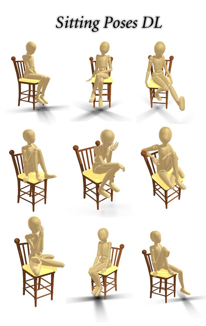 Sitting Poses DL by innaaleksui on DeviantArt
