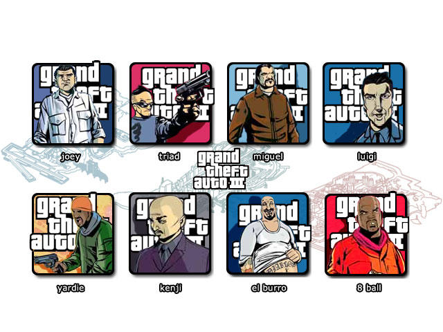 Grand Theft Auto 3 Icons - by burgers