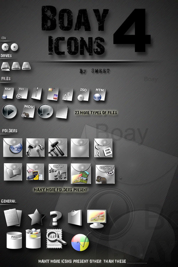 BOAY Icons 4 by smeetrules