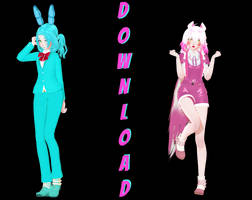 [MMD FNAF| DL] Toy Bonnie and Funtime foxy by mmdmodellike
