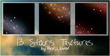 Stars textures in color by bbsokar